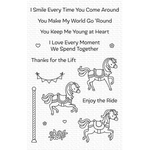 MFT: Carousel Horses Clear Stamps, 4x6 inch