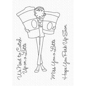 MFT: ALM Miss You a Latte Clear Stamps, 3x4 inch