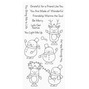 MFT: Festive Friends Clear Stamps, 4x8 inch