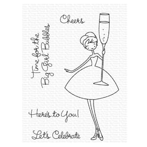 MFT: ALM Cheers Clear Stamps, 3x4 inch