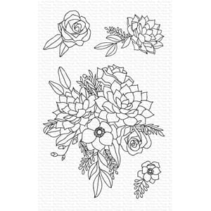 MFT: Fantasy Florals Clear Stamps, 4x6 inch