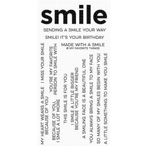 MFT: Smile Maker Clear Stamps, 4x8 inch