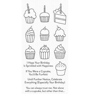 MFT: All the Cupcakes Clear Stamps, 4x8 inch