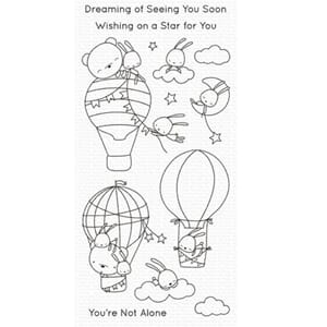 MFT: Sky-High Friends Clear Stamps, 4x8 inch