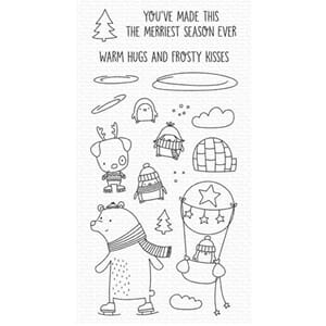 MFT: Warm Hugs and Frosty Kisses Clear Stamps, 4x8 inch