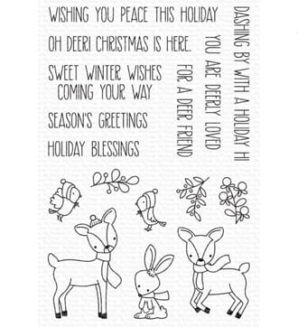 MFT: Dashing Deer Clear Stamps, 4x6 inch