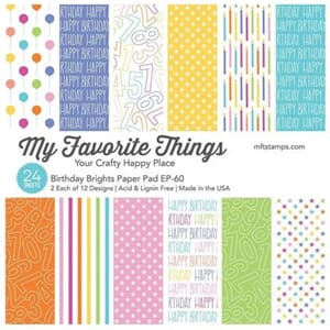 MFT: Birthday Brights Paper Pack, 6x6, 24/Pkg