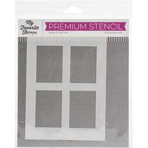 MFT: Window Panes Stencil, str 4.5x6 inch