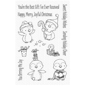 MFT: Sweet Holiday Penguins Clear Stamps,
