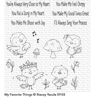 MFT: Tweet Friends Clear Stamps, 4x8 inch