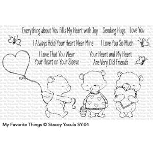 MFT: Joyful Heart Bears Clear Stamps, 4x8 inch