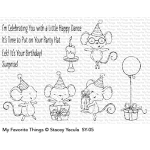 MFT: It's a Mice Time to Celebrate Clear Stamps, 4x8 inch