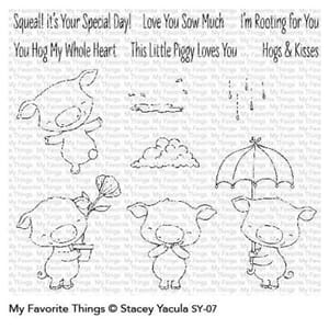 MFT: Piggy Pebbles Clear Stamps, 4x8 inch