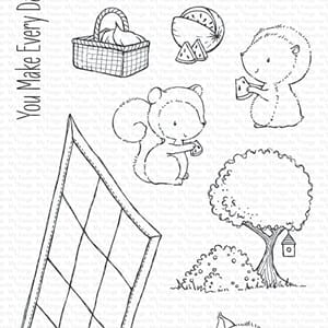 MFT: SY Picnic Pals Clear Stamps, 4x8 inch