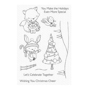 MFT: Christmas Cheer Clear Stamps, str 4x6 inch