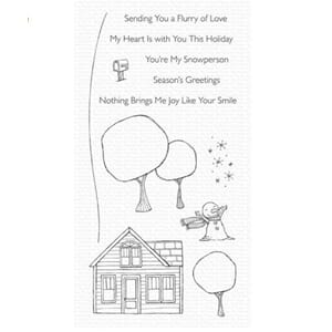 MFT: Flurry of Love Clear Stamps, 4x8 inch
