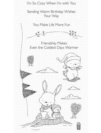MFT: Frost-Loving Friends Clear Stamps, 4x8 inch