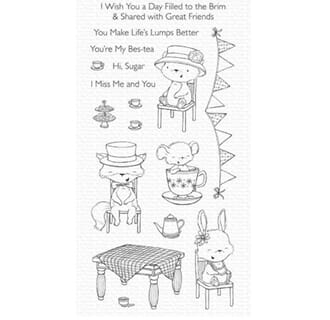 MFT: SY Tea Party Clear Stamps, 3x4 inch