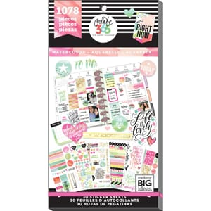 Create 365 Happy Planner - Watercolor Sticker Value Pack