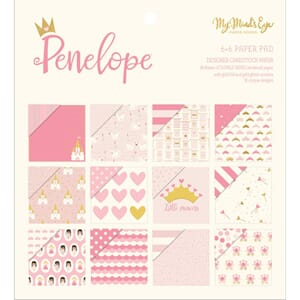 My Mind's Eye: Penelope Double-Sided Paper Pad, 6x6, 24/Pkg