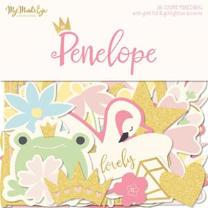 My Mind's Eye: Penelope Mixed Bag Cardstock Die-Cuts 56/Pkg