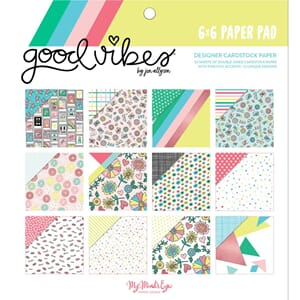 My Mind's Eye: Good Vibes Double-Sided Paper Pad, 6x6, 24/Pk