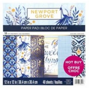 Craft Smith: Newport Grove 12x12 Inch Paper Pad