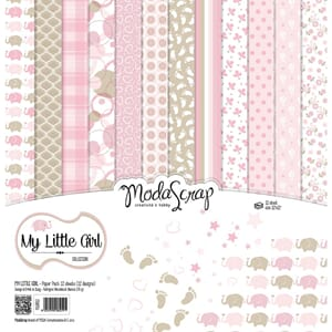 Elizabeth Craft: My Little Girl Paper Pack, 12x12, 12/Pkg