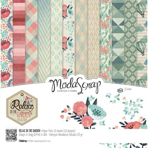 Elizabeth Craft: Relax In The Garden Paper Pack, 12x12, 12/P