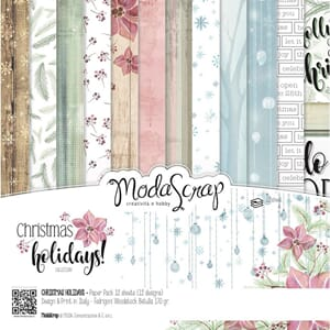 Elizabeth Craft: Christmas Holidays Paper Pack, 12x12, 12/Pk