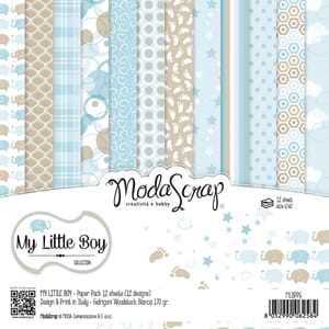 Elizabeth Craft: My Little Boy Paper Pack, 6x6, 12/Pkg