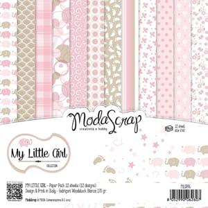 Elizabeth Craft: My Little Girl Paper Pack, 6x6, 12/Pkg