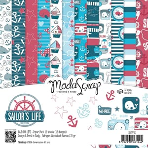 Elizabeth Craft: Sailor's Life Paper Pack, 6x6, 12/Pkg