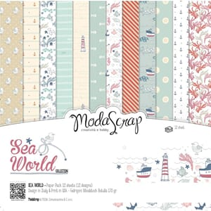 Elizabeth Craft: Sea World Paper Pack, 6x6, 12/Pkg