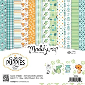 Elizabeth Craft: Color Of Puppies Boys Pack, 6x6, 12/Pkg