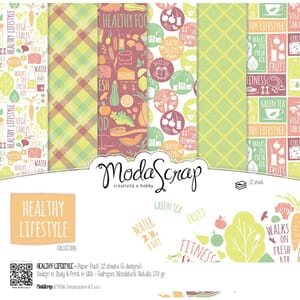Elizabeth Craft: Healthy Lifestyle Paper Pack, 6x6, 12/Pkg