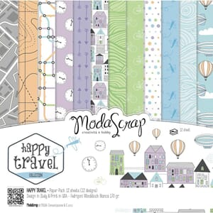 Elizabeth Craft: Happy Travel Paper Pack, 6x6, 12/Pkg
