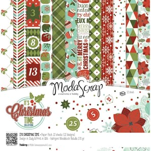 Elizabeth Craft: It's Christmas Time Pack, 6x6, 12/Pkg