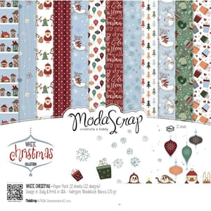Elizabeth Craft: White Christmas Paper Pack, 6x6, 12/Pkg