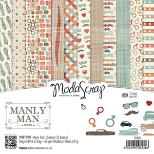 Elizabeth Craft: Manly Man Paper Pack, 6x6, 12/Pkg
