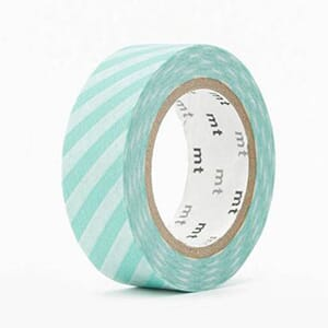 MT Washitape Stripe Mint Blue, 1 rull
