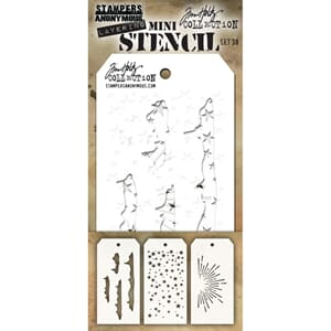 Tim Holtz: Set #38+G66 Mini Layered Stencil Set, 3/Pkg