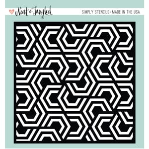 Neat & Tangled: Nesting Hexagons Stencil, 6x6 inch