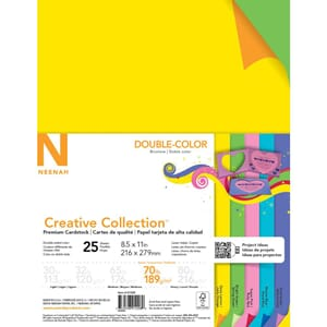 Neenah: 5 Double Colors Cardstock Pack, 25/Pkg