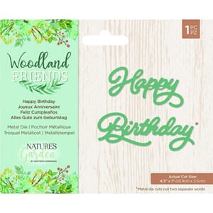 Crafters Comp. Happy Birthday Woodland Friends dies