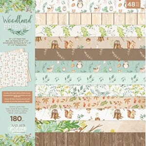Crafters Comp. - Woodland Friends, 12x12, 48/Pkg