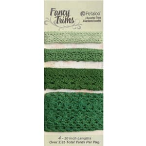 Petaloo: Green - Crochet Lace Fancy Trim