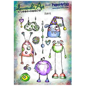 PaperArtsy: Zinski Art Set 01 Cling stamp