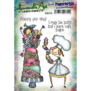 PaperArtsy: Zinski Art Set 23 Cling stamp