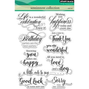 Penny Black: Sentiment Collection Clear Stamps